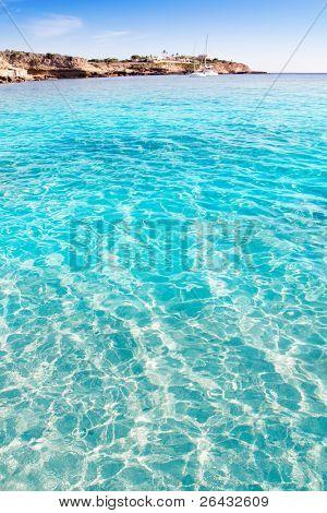 Ibiza cala Conta Conmte in San Antonio turquoise clean water