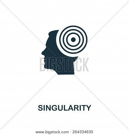 Singularity Icon. Premium Style Design From Artificial Intelligence Icon Collection. Ui And Ux. Pixe