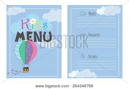 childrens menu vector photo free trial bigstock