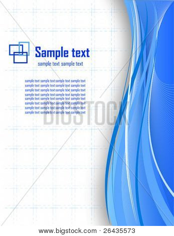 Vector of blue business card