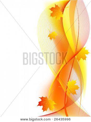 vector of beautiful  autumn card