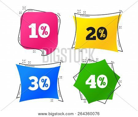Sale Discount Icons. Special Offer Price Signs. 10, 20, 30 And 40 Percent Off Reduction Symbols. Geo