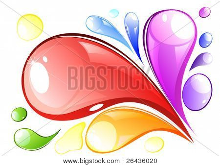 vector of colored splash