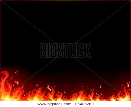vector of fire background