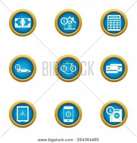 Opulence Icons Set. Flat Set Of 9 Opulence Vector Icons For Web Isolated On White Background