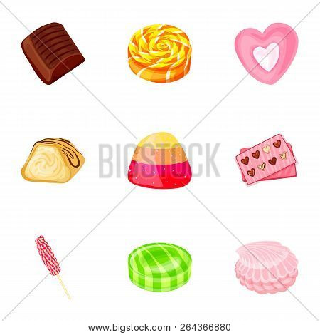 Fruit Candy Icon Set. Cartoon Set Of Fruit Candy Vector Icons For Web Design