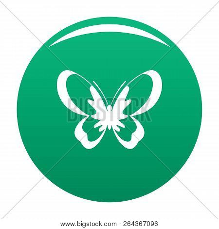 Unknown Butterfly Icon. Simple Illustration Of Unknown Butterfly Vector Icon For Any Design Green