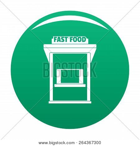 Fast Food Trade Icon. Simple Illustration Of Fast Food Trade Vector Icon For Any Design Green