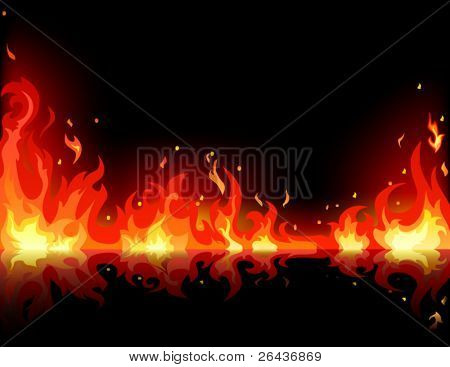 Fire reflection background