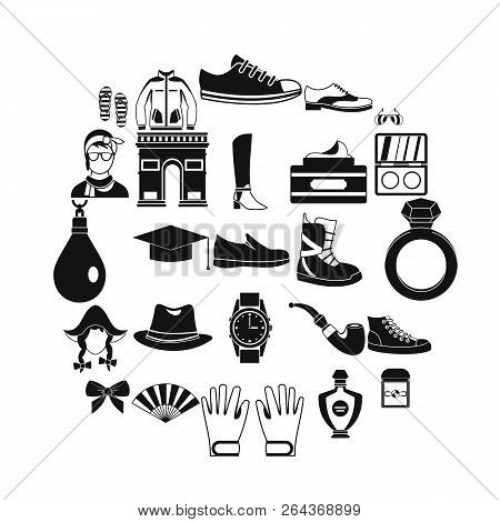 Vogue Icons Set. Simple Set Of 25 Vogue Vector Icons For Web Isolated On White Background