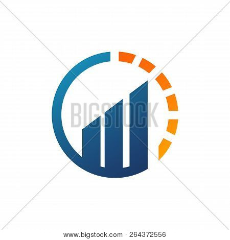 Alpha And Growth Symbol Logo Template. Graph Chart And Alfa Vector Design. Finance Illustration