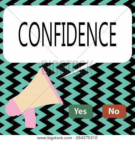 Conceptual hand writing showing Confidence. Business photo text Have faith in Rely on someone or something Telling secrets poster