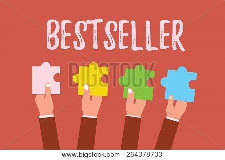 Writing Note Showing Bestseller. Business Photo Showcasing Book Product Sold In Large Numbers Succes