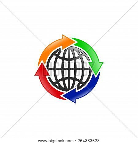 Globe Icon Vector Icon On White Background. Globe Icon Modern Icon For Graphic And Web Design. Globe