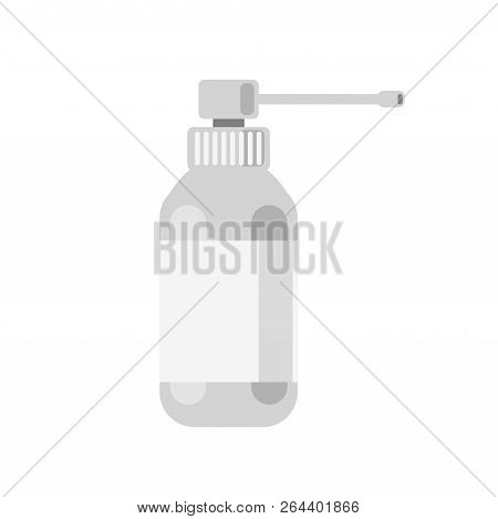 Cough Spray Vector Tube On White Background