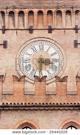 Clock tower - Palazzo d'Accursio, Bologna, Italy