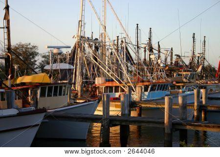 Trawlers At Sunset