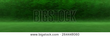 Dark Green Background For Shooting In The Studio Or For Your Advertising Text