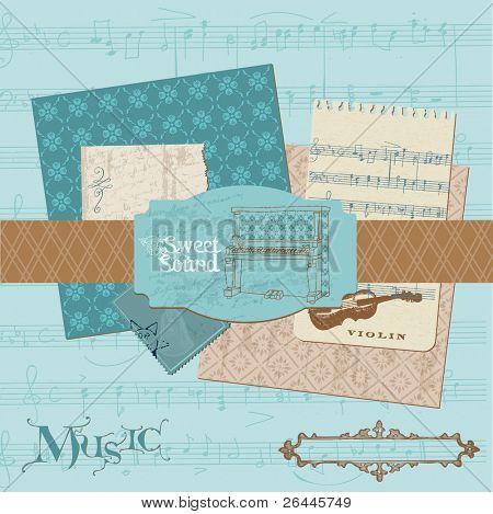 Scrapbook design elements - Vintage Music Set