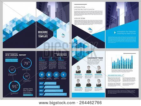 Annual Report Template. Simple Document Financial Magazine Cover Business Brochure Vector Design Lay