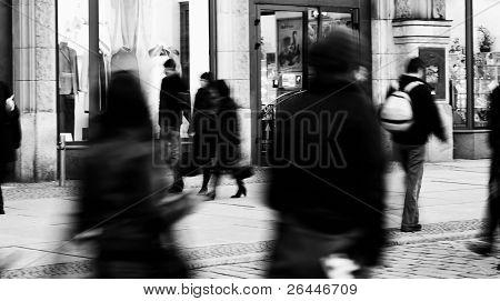 People blurred