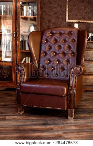 Brutal Leather Chair In The Office Of A Rich Man