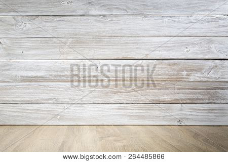 Wooden Table With Wooden Wall