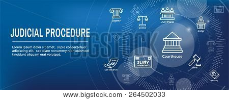 Law and Legal Icon Set - Judge, Jury, and Judicial icons poster