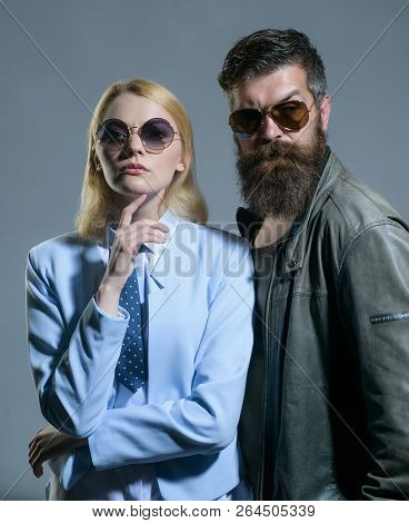 Trust Is The Most Important Part Of A Relationship. Friendship Relations. Fashion Models In Sun Glas