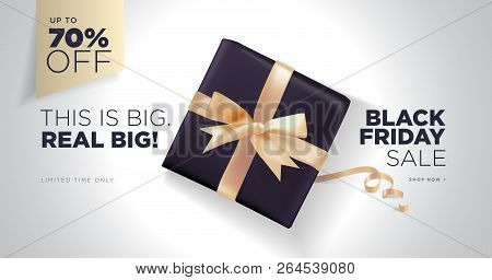 Black Friday Sale Banner. Social Media Vector Illustration Template For Website And Mobile Website D
