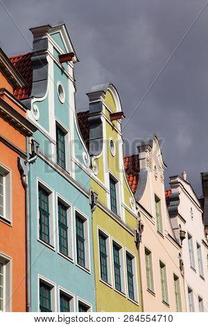 Poland - Gdansk Old Town In Pomerania Region. Townhouses At Dlugi Targ Square.