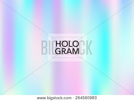 Magic Hologram Gradient Vector Background. Luxury Trendy Tender Pearlescent Color Overlay. Cool Colo