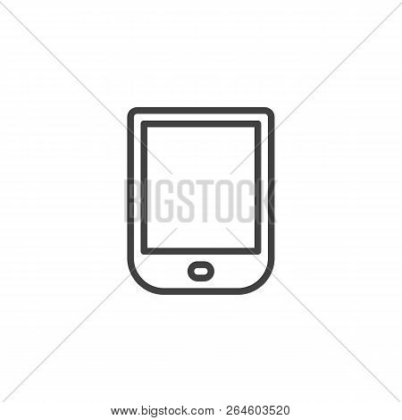 Ebook Reader Outline Icon. Linear Style Sign For Mobile Concept And Web Design. Ebook Device Simple