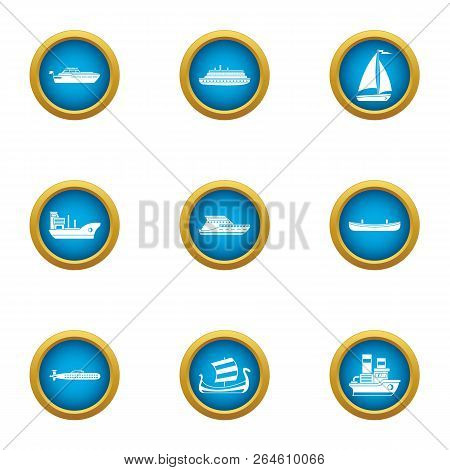 Jetliner Icons Set. Flat Set Of 9 Jetliner Vector Icons For Web Isolated On White Background
