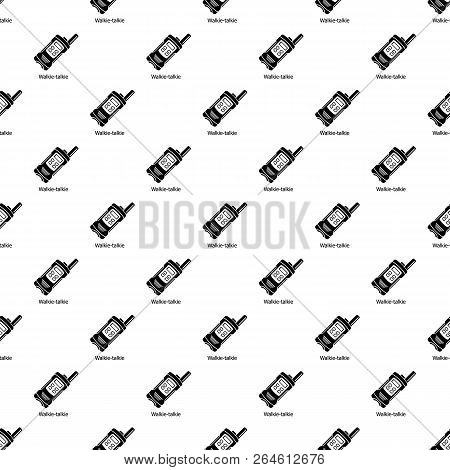 Portable Radio Pattern Vector Seamless Repeating For Any Web Design