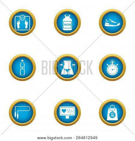 Waistline Icons Set. Flat Set Of 9 Waistline Vector Icons For Web Isolated On White Background