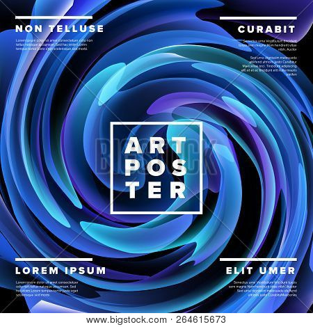 Modern Vector Art Poster Template For Art Exhibition, Gallery, Concert Or Dance Party