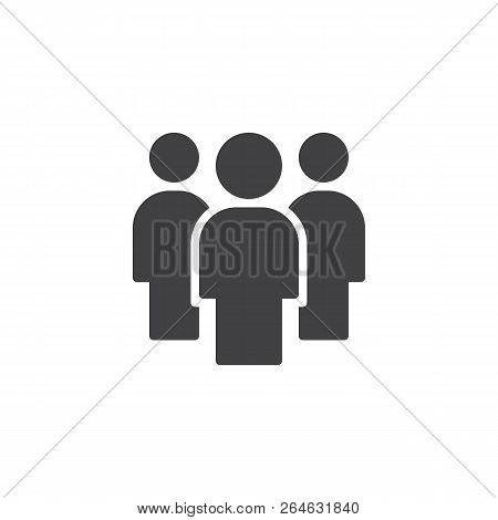 Teamwork People Vector Icon. Filled Flat Sign For Mobile Concept And Web Design. Group Of People Sim