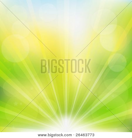 Abstract Best Nature Green Background With Beams