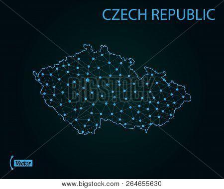 Map Of Czech Republic. Vector Illustration. World Map
