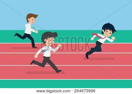 Salary Man 01 Business Competition. Business Competition Is Like Running.