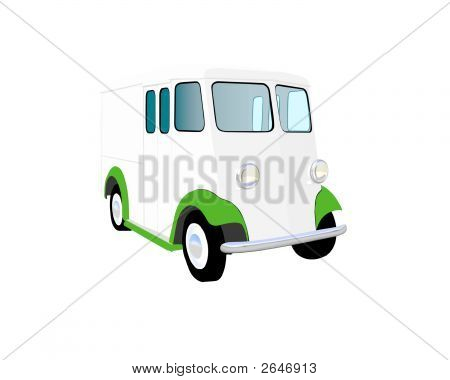 Twenties Milk Truck Vector