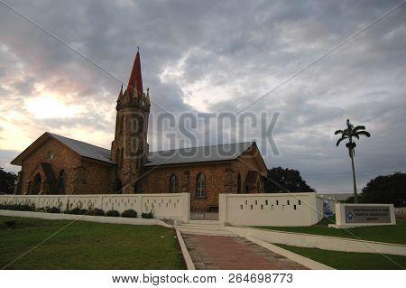 Abetifi, Ghana: July 18th 2016 - Ramseyer Church, A Presbyterian Church Building In The Town Of Abet