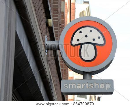 A Smartshop In A Street In Amsterdam