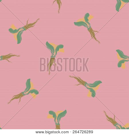 Horseradish Vector Coloured Pathless Pink Pattern For Web, Textile, Branding, T-shirts, Cards, Craft