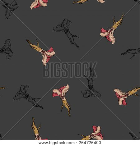 Horseradish Vector Retro Coloured Pattern For Web, Textile, Branding, T-shirts, Cards, Craft