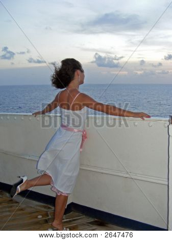 Girl on a Cruise Ship