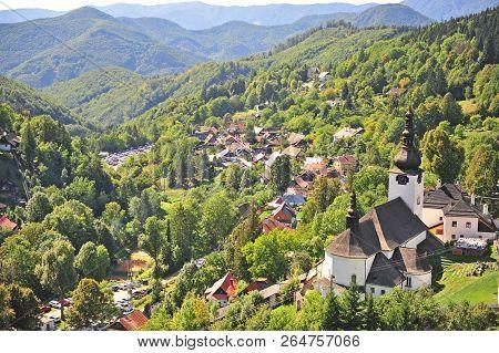 Beautiful Church In Green Hills Of Spania Dolina