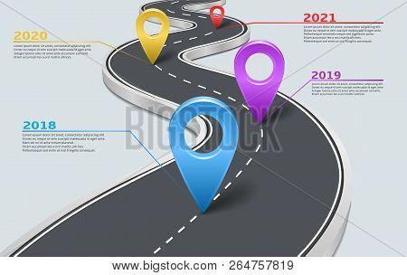 Company Corporate Milestone, History Timeline, Business Presentation Layout, Infographic Strategic P