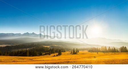High Tatras Is A Mountain Range Along The Border Of Northern Slovakia And Southern Poland.